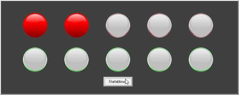 Startampel mit 5 Rotphasen.